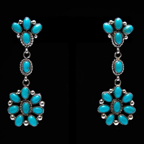 Hubert Etsitty Turquoise Drop Earrings