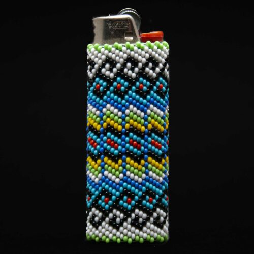 Large Colourful Beaded Lighter Case