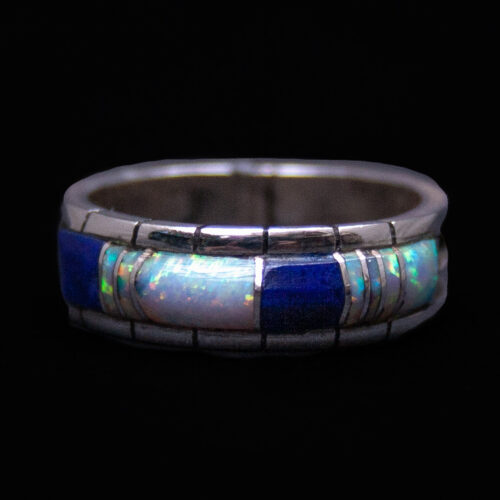 Phylis Lucio Opal Lapis Ring