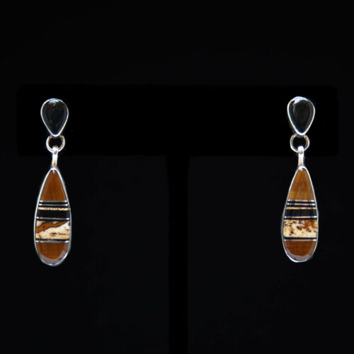Shane Sandoval Brown Black Drop Earrings