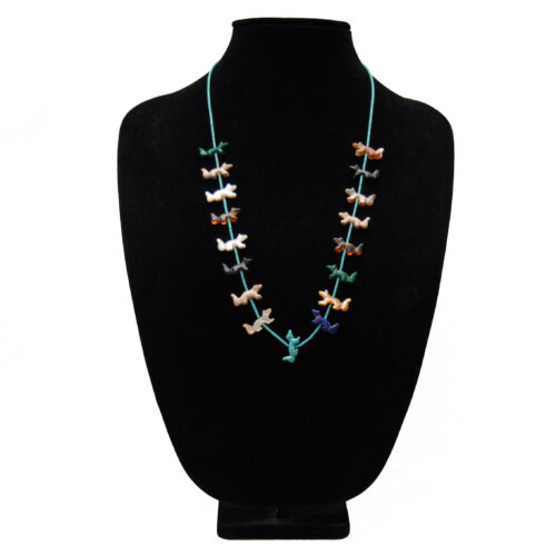 Zuni Wolf Animal Necklace